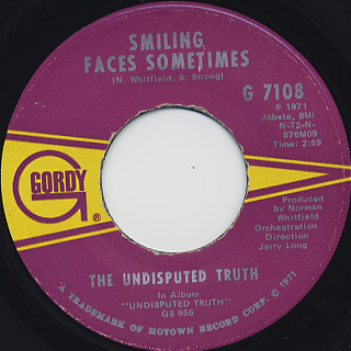 Undisputed Truth Smiling Faces Sometimes Caras Sonrientes