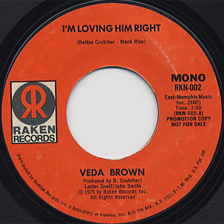 Veda Brown / I'm Loving Him Right back