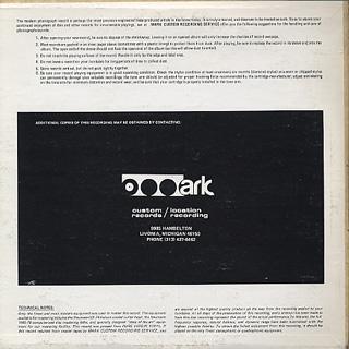 Ann Arbor Huron Symphony Band / 1977-1978 back