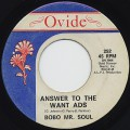 Bobo Mr. Soul / Answer To The Want ADS