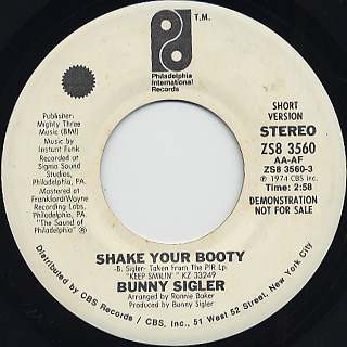 Bunny Sigler / Shake Your Booty back