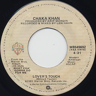 Chaka Khan / What Cha' Gonna Do For Me back