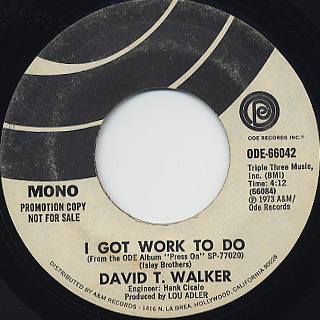 David T. Walker / I Got Work To Do back
