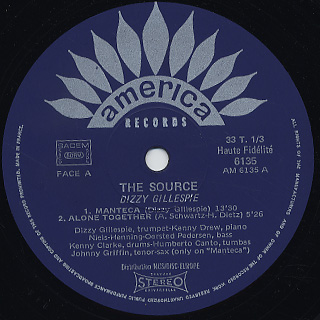 Dizzy Gillespie / The Source label