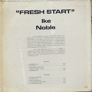 Ike Noble / Fresh Start back