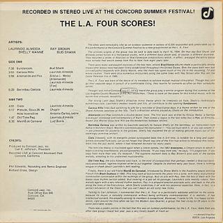 L.A. Four / The L.A. Four Scores! back