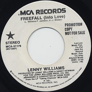 Lenny Williams / Freefall (Into Love) back