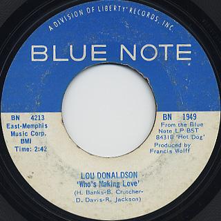 Lou Donaldson / Who's Making Love