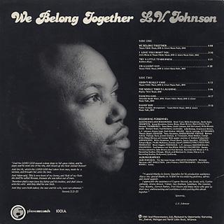 L.V. Johnson / We Belong Together back