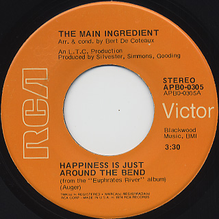 Main Ingredient / Happiness Is Just Around The Bend
