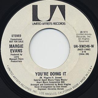 Margie Evans / You're Doing It
