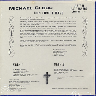 Michael Cloud / This Love I Have back