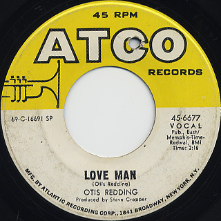 Otis Redding / Love Man c/w Can't Turn You Loose