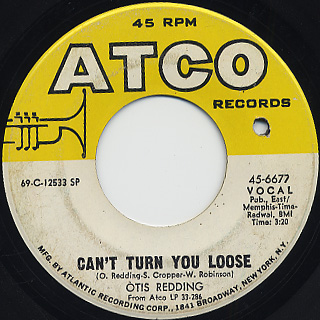 Otis Redding / Love Man c/w Can't Turn You Loose back