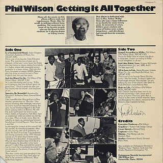 Phil Wilson / Getting It All Together back