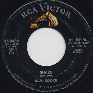 Sam Cooke / Shake c/w A Change Is Gonna Come