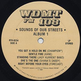 V.A. / WDMT FM 108 Sounds Of Our Streets Alnum 1 label