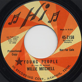 Willie Mitchell / Kitten Korner c/w Young People back