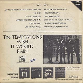 Temptations / Wish It Would Rain back