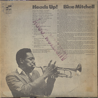 Blue Mitchell / Heads Up! back