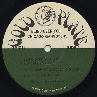 Chicago Gangsters / Blind Over You label