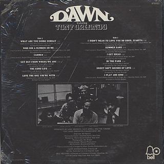 Dawn Featuring Tony Orlando / S.T. back
