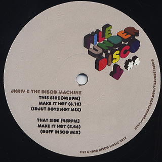 J Kriv & The Disco Machine / Make It Hot (Idjut Boys & Duff Disco Remixes)