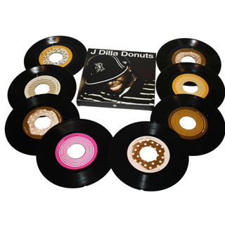 J Dilla / Donuts 45 Box Set (8x45s) label