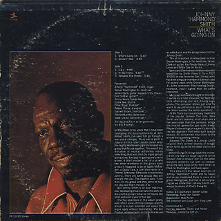 Johnny Hammond Smith / What's Going On back