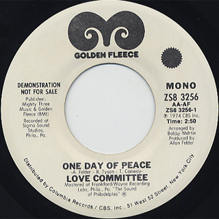 Love Committee / One Day Of Peace back