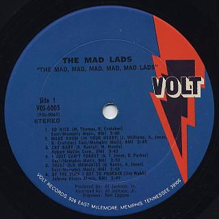 Mad Lads / The Mad, Mad, Mad, Mad, Mad Lads label