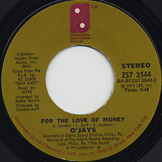 O'Jays / For The Love Of Money