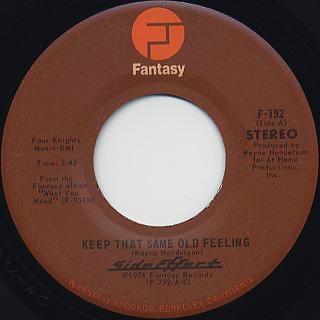 Side Effect / Keep That Same Old Feeling