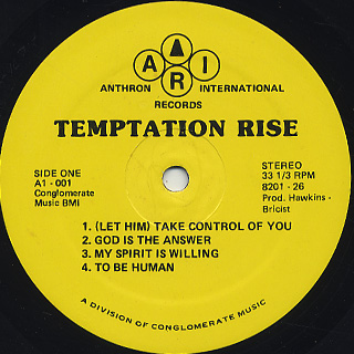 Temptation Rise / S.T. label