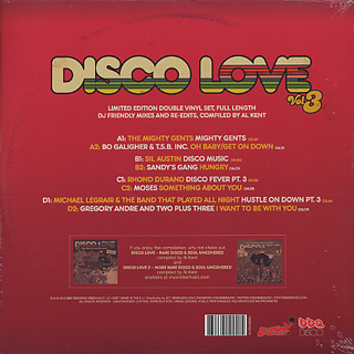 V.A.(Al Kent) / Disco Love vol.3 back