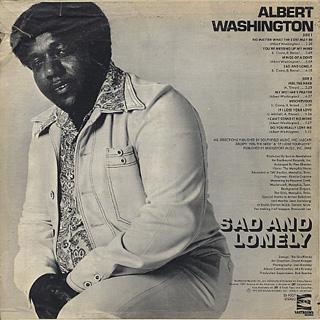 Albert Washington / Sad And Lonely back