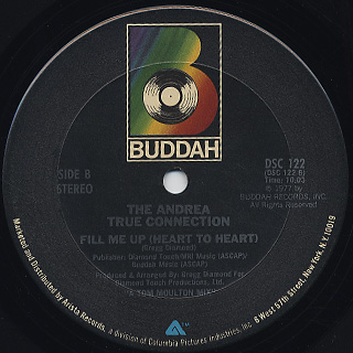 Andrea True Connection / What's Your Name, What's Your Number back