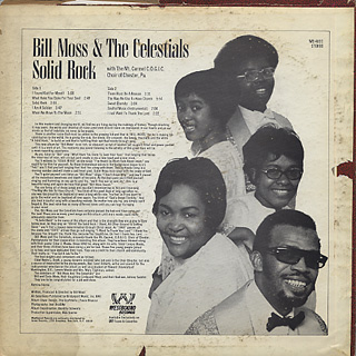 Bill Moss & The Celestials / Solid Rock back