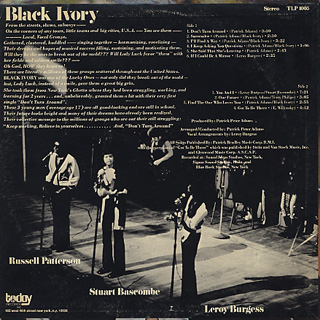 Black Ivory / Don't Turn Around back