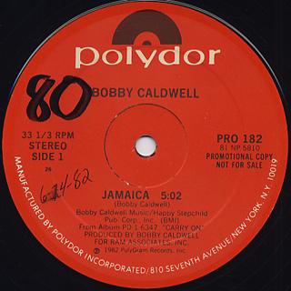 Bobby Caldwell / Jamaica c/w Catwalk