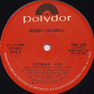 Bobby Caldwell / Jamaica c/w Catwalk back
