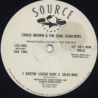 Chuck Brown & The Soul Searchers / Bustin' Loose(Part I & II)