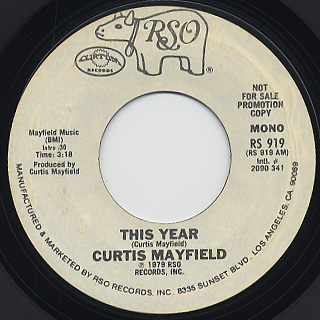 Curtis Mayfield / This Year back