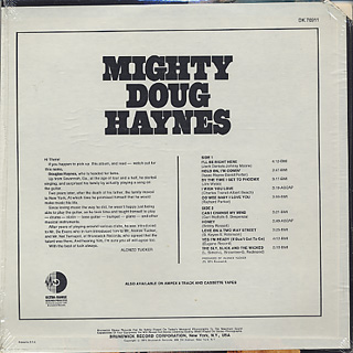 Doug Haynes / Mighty Doug Haynes back