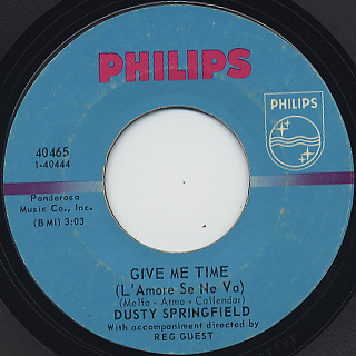 Dusty Springfield / The Look Of Love c/w Give Me Time(L'Amore Se Ne Va) back