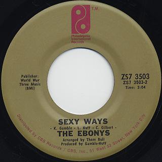 Ebonys / Sexy Ways c/w You're The Reason Why