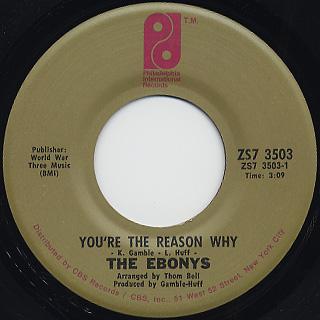 Ebonys / Sexy Ways c/w You're The Reason Why back