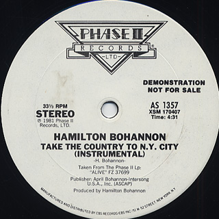 Hamilton Bohannon / Take The Country To N.Y. City