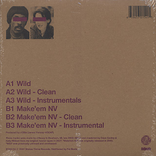 J Dilla / Wild (Chipboard Jacket) back