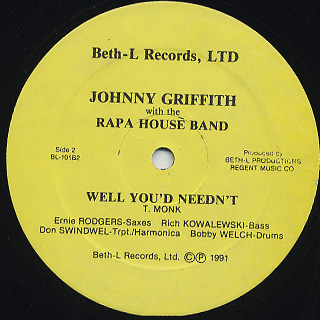 Johnny Griffith with the Rapa House Band / Super Blue back